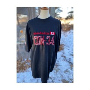 Y2K Mondetta T-Shirt Black CDN-34 Short Sleeve